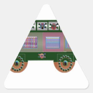 fantasy car gifts triangle sticker