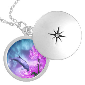 Fantasy Dolphin Locket Necklace