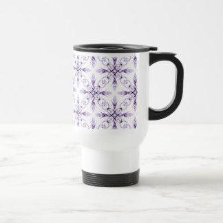 Fantasy Floral Faded Lavender Fractal Pattern Coffee Mugs