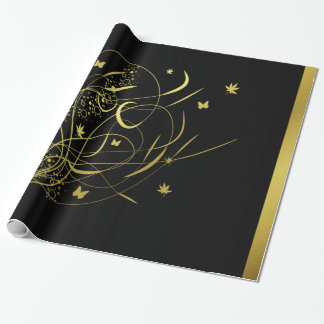 fantasy flower pattern wrapping paper