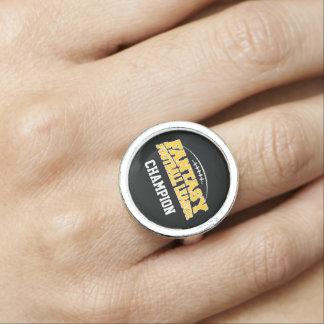 Fantasy Football Champion - Black and Yellow Gold Ring