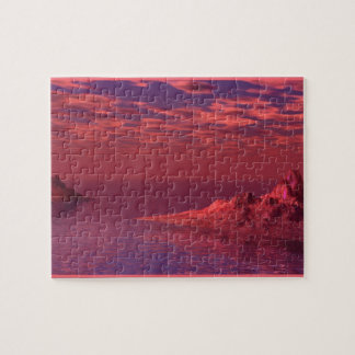 Fantasy Landscape - Mountains at Dawn Jigsaw Puzzle