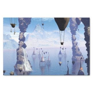 Fantasy landscape tissue paper