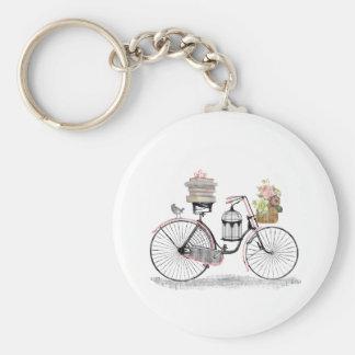 Fantasy push bike basic round button key ring
