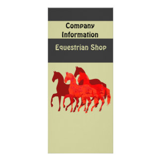 Fantasy Red Horses Customized Rack Card