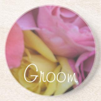 Fantasy Rose Wedding Sandstone Coaster