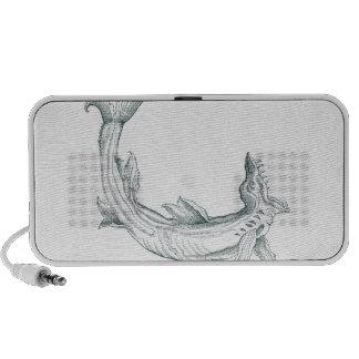 Fantasy Sea Monster in Gray Travel Speaker