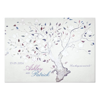 Fantasy Tree Wedding 13 Cm X 18 Cm Invitation Card