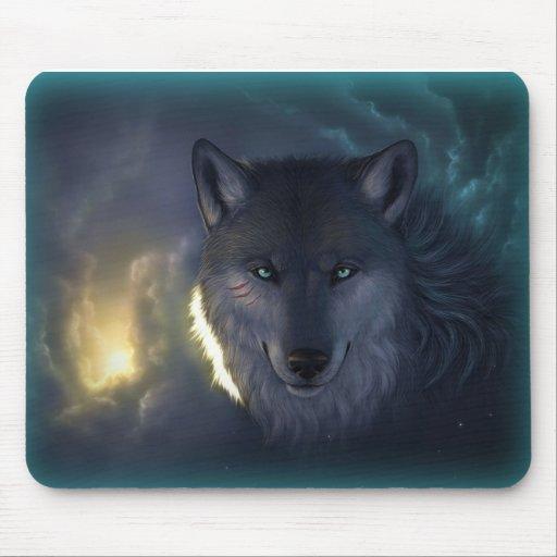 Fantasy Wolf Mousepads