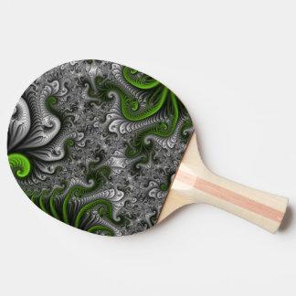 Fantasy World Green And Gray Abstract Fractal Art Ping Pong Paddle