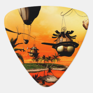 Fantasy world, the home in the wind guitar pick
