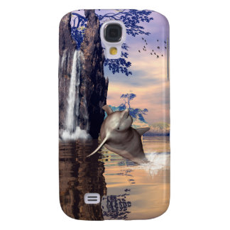 Fantasy world with dolphin galaxy s4 case