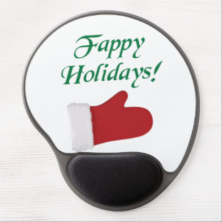 Fappy Holidays Christmas Glove Gel Mouse Mats