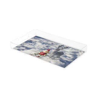 Farley the Elf Merry & Bright Acrylic Tray