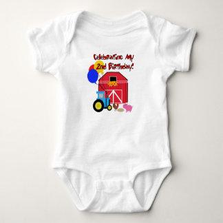 Farm 2nd Birthday Baby Bodysuit
