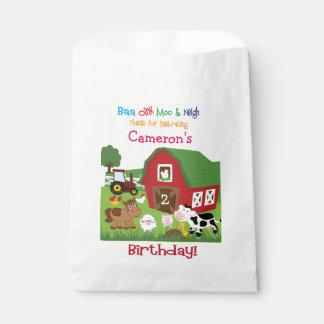 Farm Animal Birthday Goody/Favor Bag Favour Bags