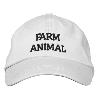 FARM ANIMAL HAT EMBROIDERED BASEBALL CAP