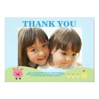 Farm Animals Barnyard Thank You Photo Cards Personalized Invites