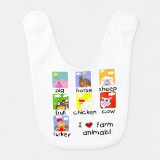 Farm Animals Bib