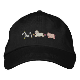Farm Animals Embroidered Hat