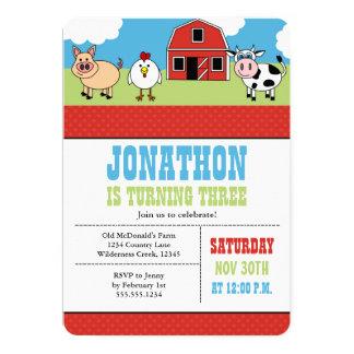Farm Barnyard Birthday Party Invitation