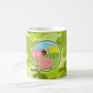 Farm; bright green camo, camouflage mug