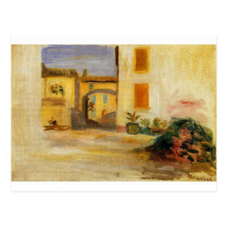 Farm Courtyard by Pierre-Auguste Renoir Postcard