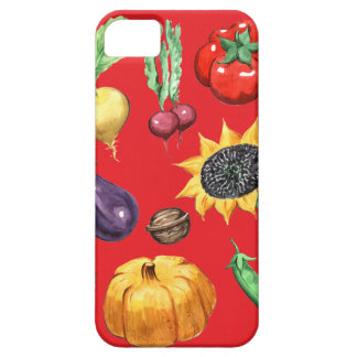 Farm Harvest on Red Barely There iPhone 5 Case