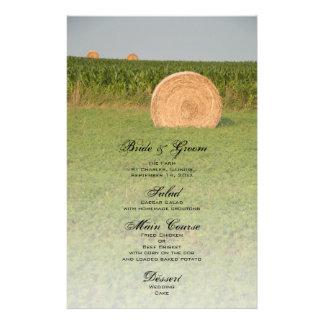 Farm Hay Bales Country Wedding Menu