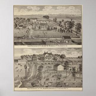 Farm residences of HB Kay and YA Glenn Poster