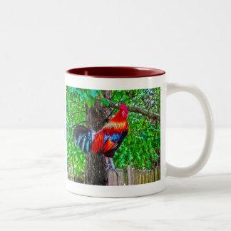 Farm Rooster Two-Tone Coffee Mug