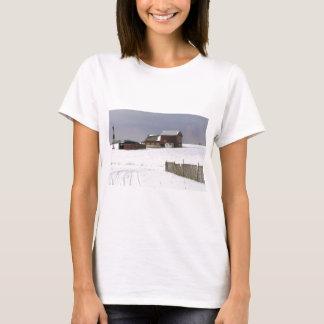 Farm with Snow Winter NJ T-Shirt
