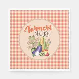 Farmers Market Baby Shower Disposable Serviette