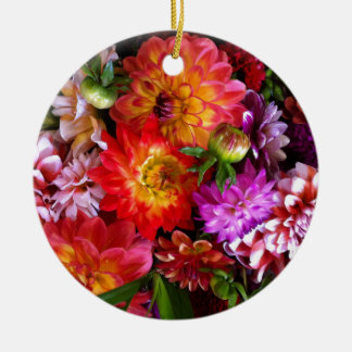 Farmers market flowers christmas ornament