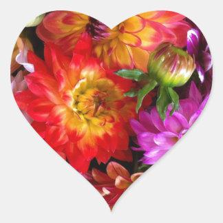 Farmers market flowers heart sticker