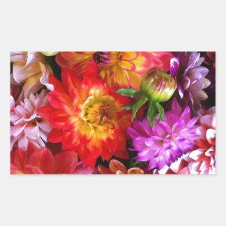Farmers market flowers rectangular sticker