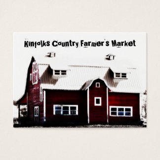 Farmer's Market Red Country Barn Business Card