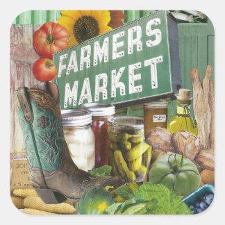 Farmers Market Square Sticker