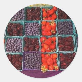 farmers market round sticker