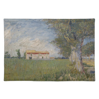 Farmhouse in a wheat field Placemat