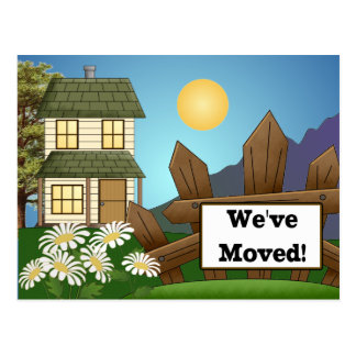 Farmhouse Moving Notice Announcement Postcard
