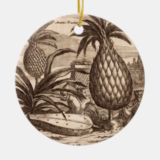 Farming Large Pineapples, illustration from a desc Christmas Ornament