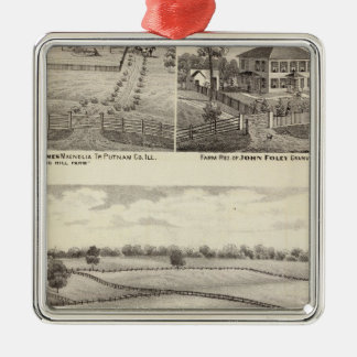 Farms and residences in Magnolia Silver-Colored Square Decoration