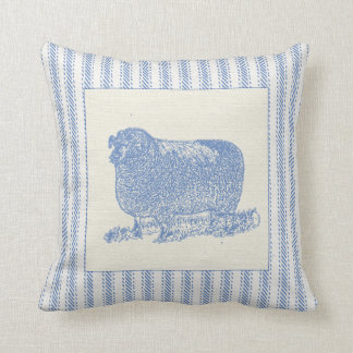 Farmyard Sheep with Ticking Cushion
