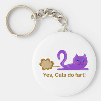 Farting cat, cat farts! key ring