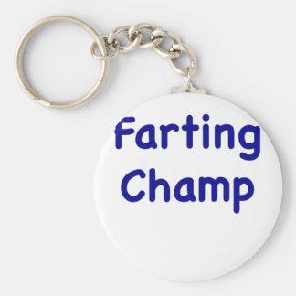 Farting Champ Key Ring
