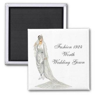 Fashion 1924 Wedding Gown Magnet