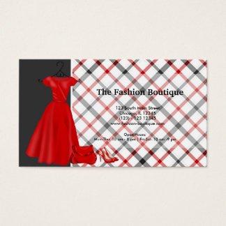 Fashion Boutique (Red) Business Card