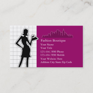 Womens fashion apparel business cards zazzle nz fashion business cards reheart Gallery
