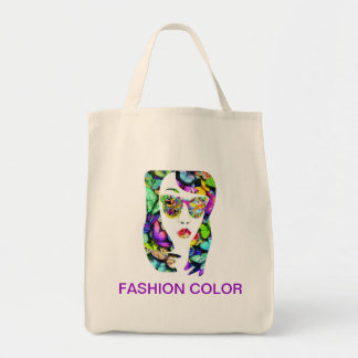 Fashion color grocery tote bag
